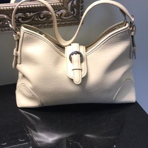 Craft & Barrow cream colored handbag